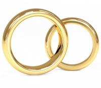 Обычные обручальные кольца